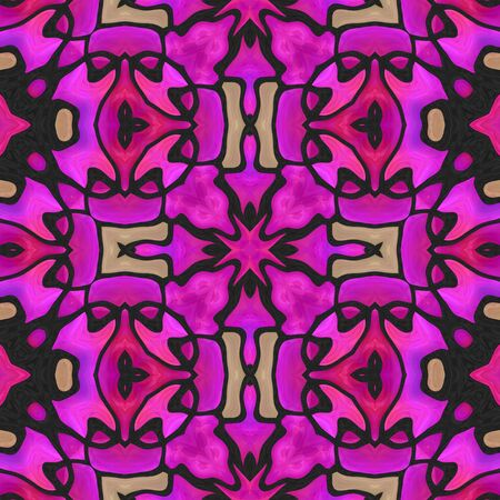 kaleidoscop: Pink colored abstract beautiful pattern background design  Stock Photo