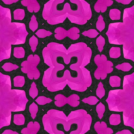 kaleidoscop: Beautiful pink seamless tile with ornaments image design pattern Stock Photo