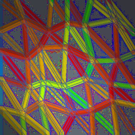 Abstract triangle ropes colorful background texture pattern Stock Photo