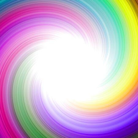 Beautiful rainbow swirl twirl motion sphere circle background