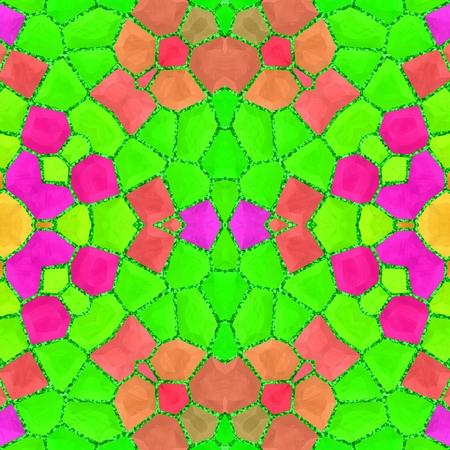 Beautiful great bright neon colorful mosaic geometry pattern Stock Photo