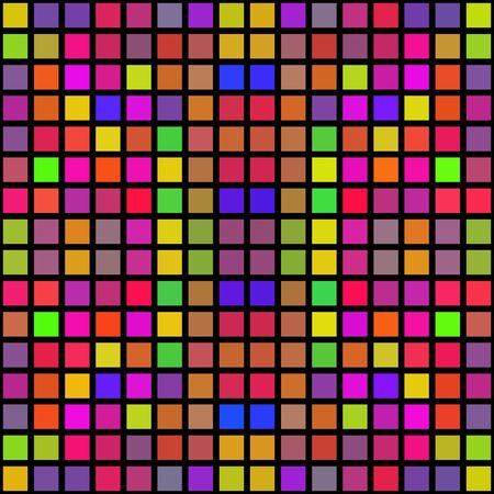 gaily: Colorful abstract cubes shapes pixelize texture Stock Photo