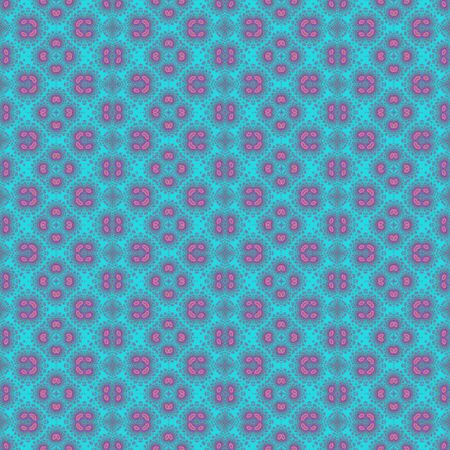 kaleidoscop: Turquoise blue and pink seamless design pattern Stock Photo