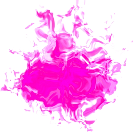 Bright pink irregular abstract graphic stain spot Stock Photo