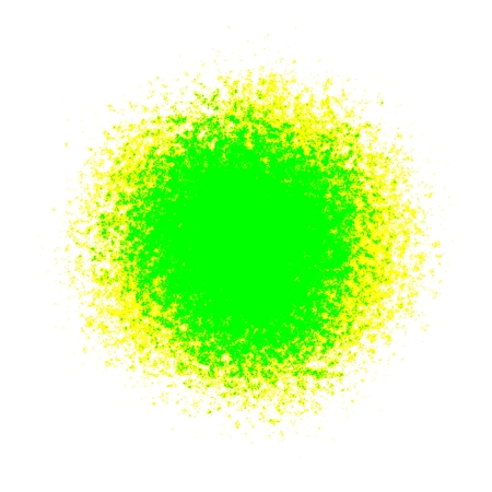 macula: Bright neon green and yellow spot stain ball orb decoration or background