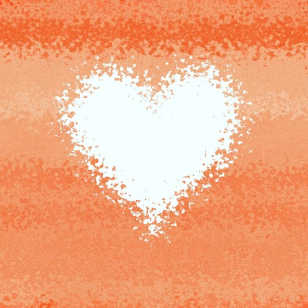 Soft light red orange diffuse abstract heart frame Stock Photo