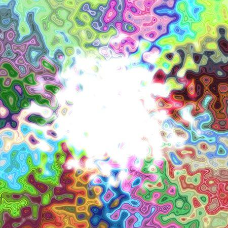 framed: Beautiful colorful artistic circle frame framed background