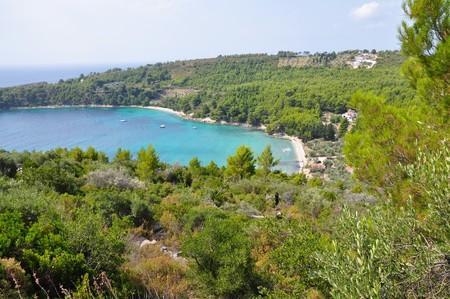 アロニソス島、スポラデス、ギリシャの Tsortsi ・ ギアロス ・ ビーチ 写真素材