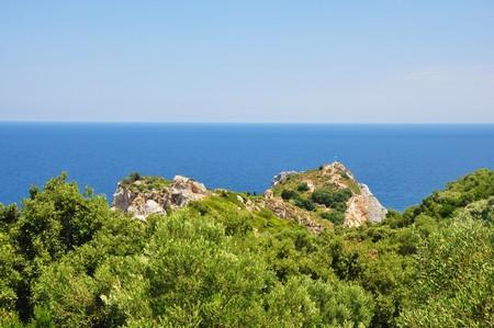 Kastro view in Skiathos island in Sporades, Greece Reklamní fotografie