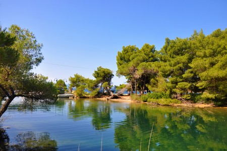 Beautiful nature photo of Skiathos lanscape