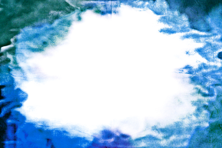 Cloudy abstract horizontal fram and white empty background