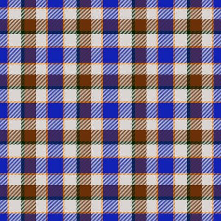 Blue and brown checkered seamless pattern design Stock Photo