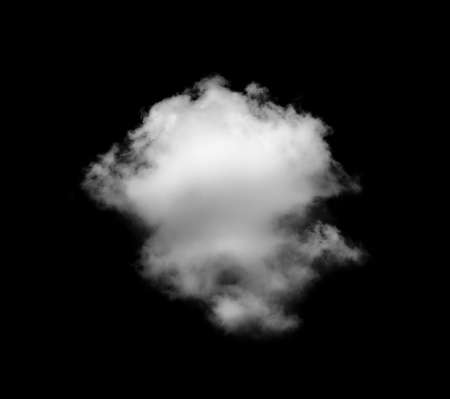 White cloud isolated on the black background