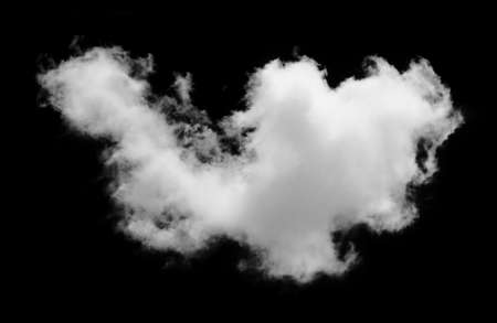 white Clouds on black background.