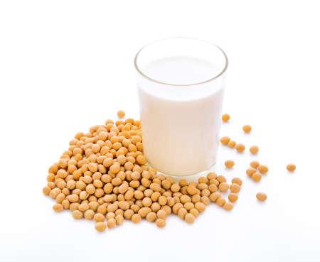 soy milk on white background Zdjęcie Seryjne