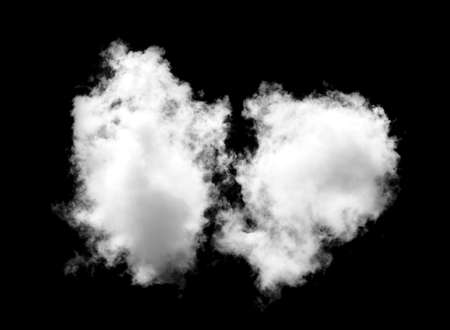 white Clouds on black background. Banque d'images