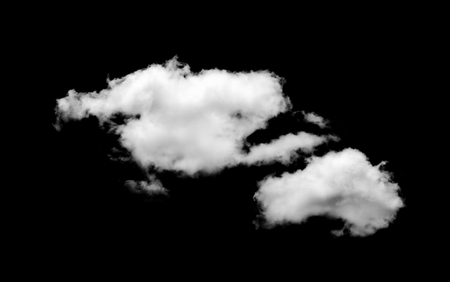 white Clouds on black background. Stock Photo
