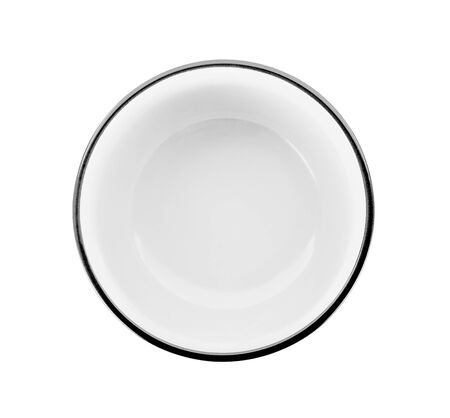 white bowl isolated on white background Banco de Imagens