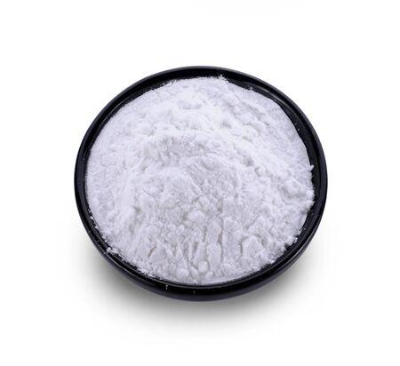 tapioca flour isolated on white background