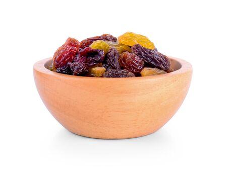 Raisins isolated on white background. Imagens