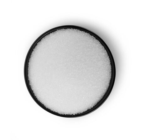 sugar isolated on white background.