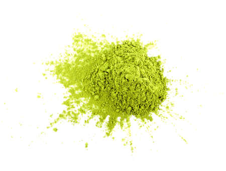 Powdered matcha green tea isolated on white background Reklamní fotografie