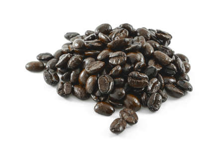 coffee bean isolated on white background Foto de archivo