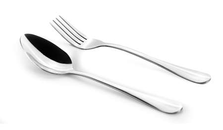 silver spoon isolated on white background
