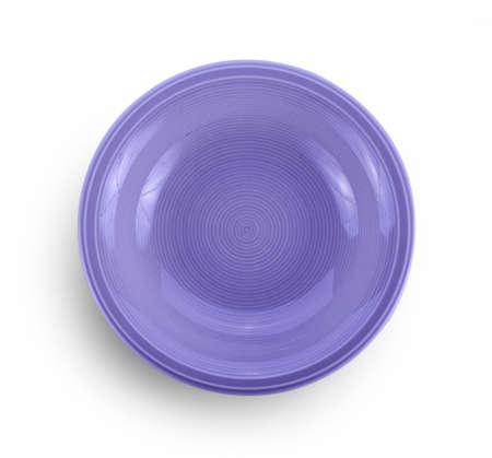 empty ceramic bowl on white background