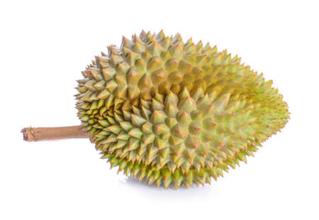 King of fruits, Durian on white background.  Archivio Fotografico