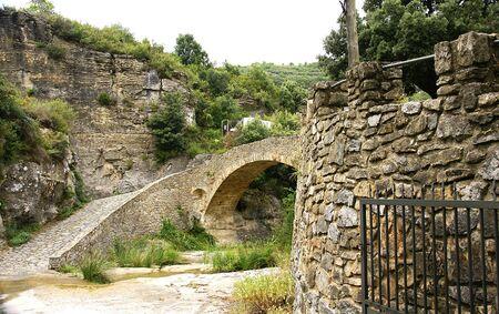 Bridge stone of Sant Miquels of the Fai in Barcelona photo