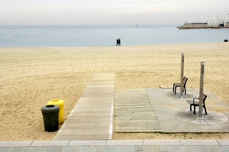 empties: Beach empties in Barcelona