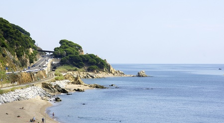 Panoramic of the beach of the Maresme