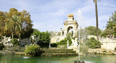 Pond and fountain of the Park of the Ciudadela, Barcelona