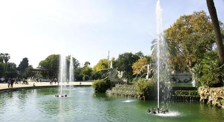 Pond in the Park of the Ciudadela in Barcelona