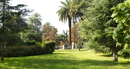 Gardens of the Park of the Ciudadela in Barcelona