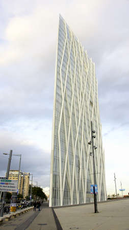 Modern building of glass in Barcelona