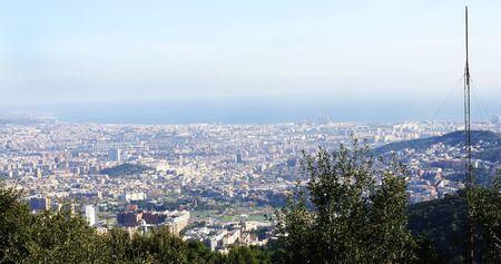 tibidabo: Panoramic of Barcelona from the Tibidabo Stock Photo