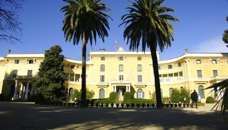 Panoramic of Pedralbes s palace in Barcelona Stock Photo - 13861300