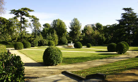 Gardens of Pedralbes s Palace in Barcelona Stock Photo
