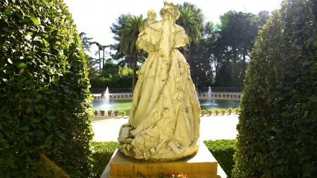 Sculpture of Isabel II presented to his son Alfonso XII Stock Photo - 13861160