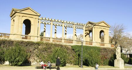 Viewing-point of Pedralbes s Palace, Barcelona Stock Photo - 13861162