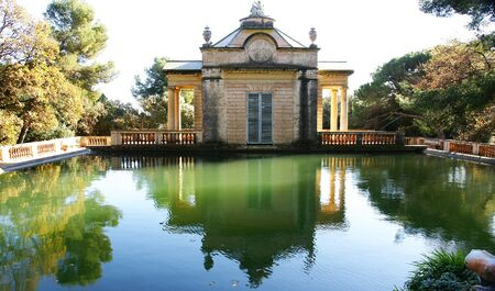 Little house of the pond of Horta s Labyrinth, Barcelona Stock Photo - 13861393