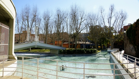 industrial park: Pond of the Park of the Industrial Spain in Barcelona