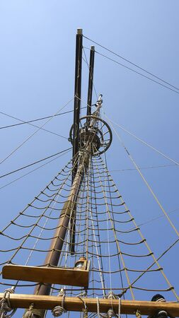 Mast of sailboat in the port of Dubrovnik, Croatia