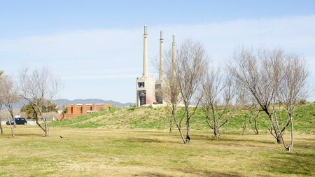 tree world tree service: Panoramic of the Parc Forum with Thermal power station to the fund, Barcelona Editorial