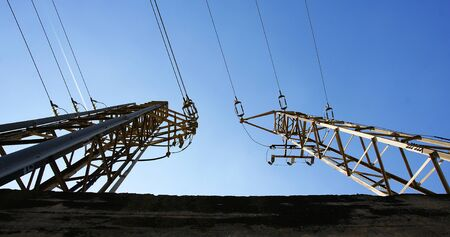 electric material: Towers of high tension
