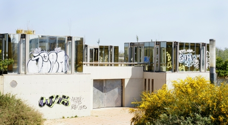 vandalism: Vandalism in one sports facilities of Castelldefels s Channel, Barcelona Stock Photo
