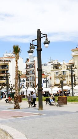 sitges: Lamppost of Sitges s square, Barcelona Editorial