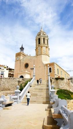 Church of Sant Bartomeu and Santa Tecla, Sitges, Barcelona photo